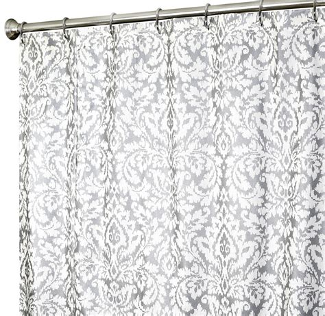 damask print shower curtain damask shower curtain gold and white shower curtain