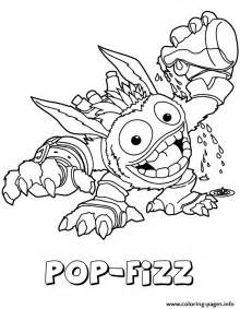 skylanders giants magic series1 pop fizz coloring pages