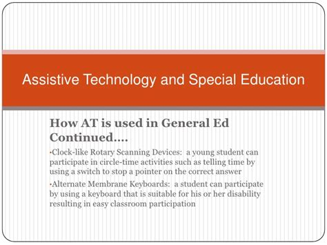 Justification Letter For Assistive Technology assistive technology and special education