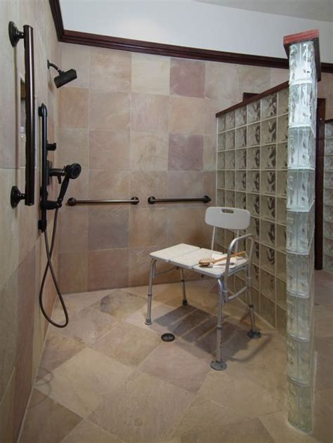 accessible bathroom design ideas handicapped accessible shower ideas pictures remodel and