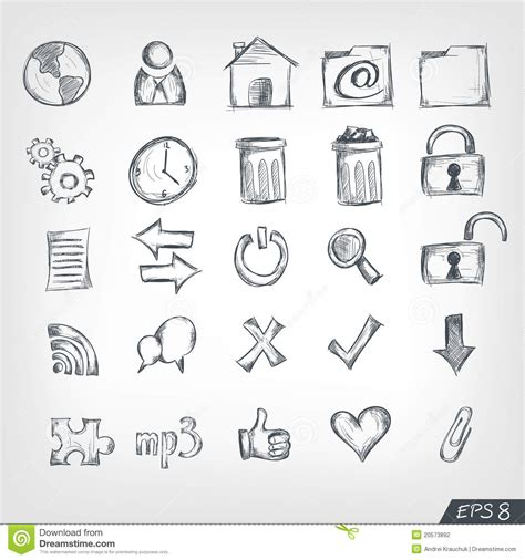 doodle draw icon pack apk sketch icon set stock vector illustration of globe