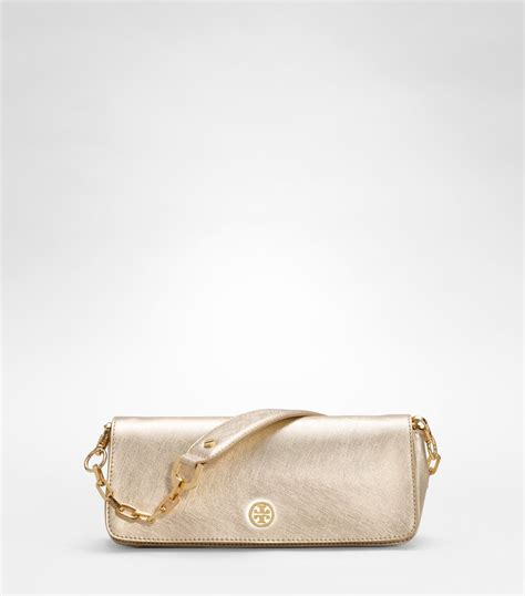 Couture Elongated Clutch by Burch Robinson Metallic Elongated Clutch In Metallic