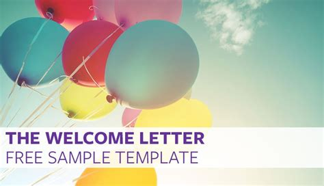 welcome page templates the welcome letter free sle template proven