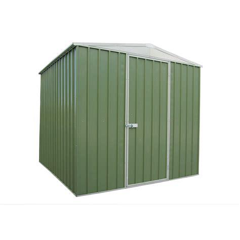 Qiq Fix Sheds qiq fix garden shed metal 2 3 x 2 3 x 1 9m green sku 00714001 bunnings warehouse