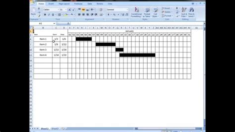 how to make an interactive calendar in excel excel tutorial make interactive visual schedule gantt