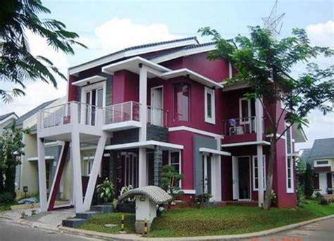 aksesoris  paduan warna cat depan rumah minimalis motif