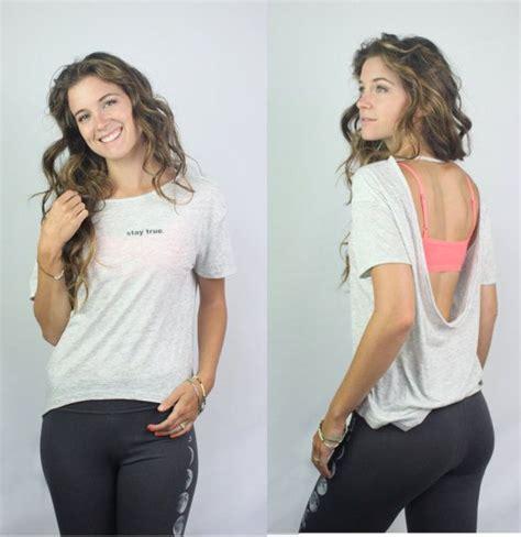 Lower Flowy stay true open back shirt inspirational clothing womens
