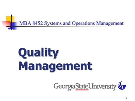 Mba System Management by Ppt Mba 8452 Systems And Operations Management