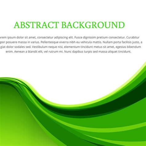 background design vector green free vector green wave background design vector 14458