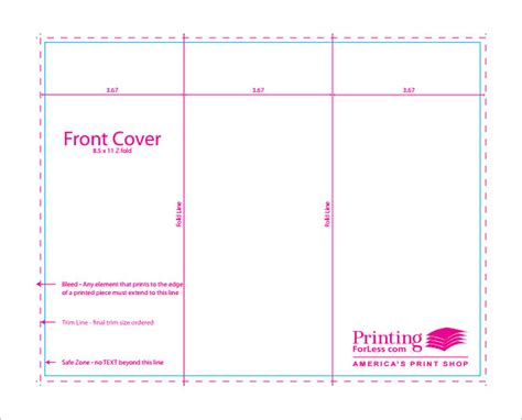 z card template 10 printable trifold templates doc psd pdf eps