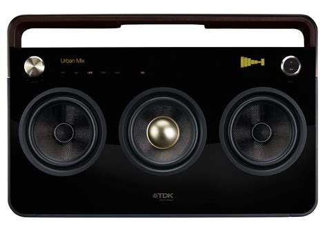 Speaker Subwoofer tdk boombox portable audio system design is this