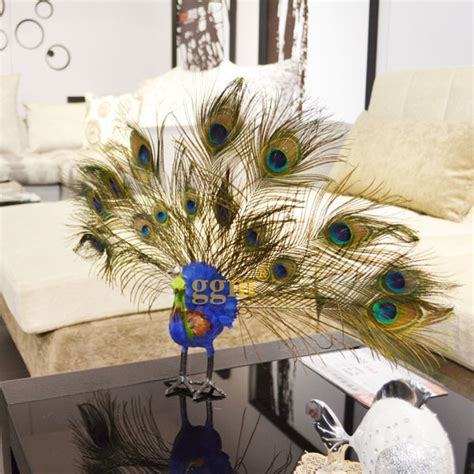 high artificial peacock feather decoration home ornaments