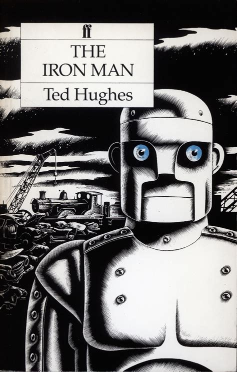 the iron man illustrated 1985 edition of ted hughes s classic the iron man designed by pentagram and illustrated by