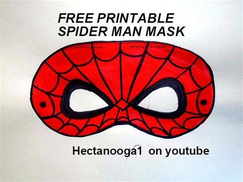 printable mask of spiderman free printable spiderman mask painted by hectanooga