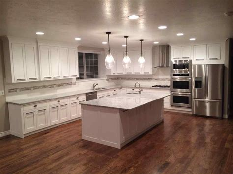 antique white kitchen with wood floors and an island sink antique white kitchen dark floors datenlabor info