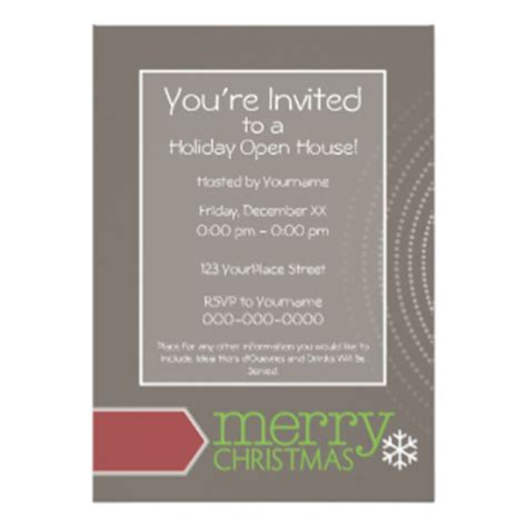 open house invitations holiday open house invitations announcements zazzle com au