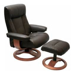 Recliner Chair And Ottoman Scansit 110 Ergonomic Leather Recliner Chair Ottoman Scandinavian Lounge Chair By