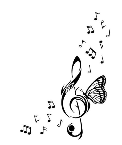 butterfly music note tattoo designs best 25 tattoos ideas on note