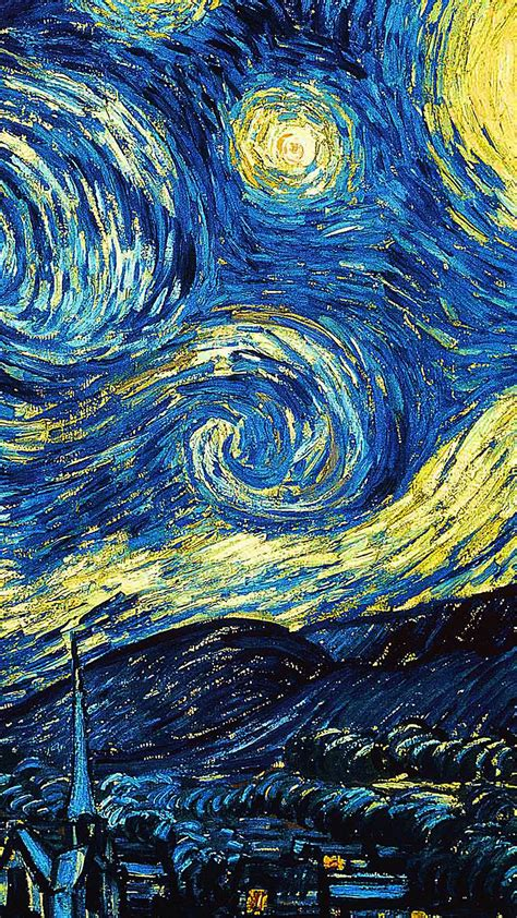 iphone wallpaper classic art papers co iphone wallpaper ar55 vicent van gogh starry