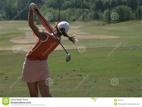 lady swings lady golf swing stock image image 2618701