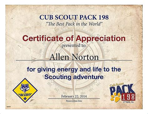 certificate of leadership template certificate of leadership template free boy scout