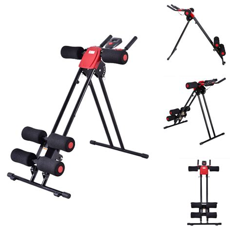 new ab cruncher abdominal trainer glider machine fitness exercise equipment ebay