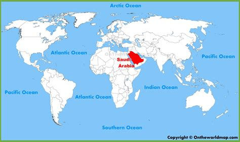 where is saudi arabia on the world map saudi arabian location on the world map