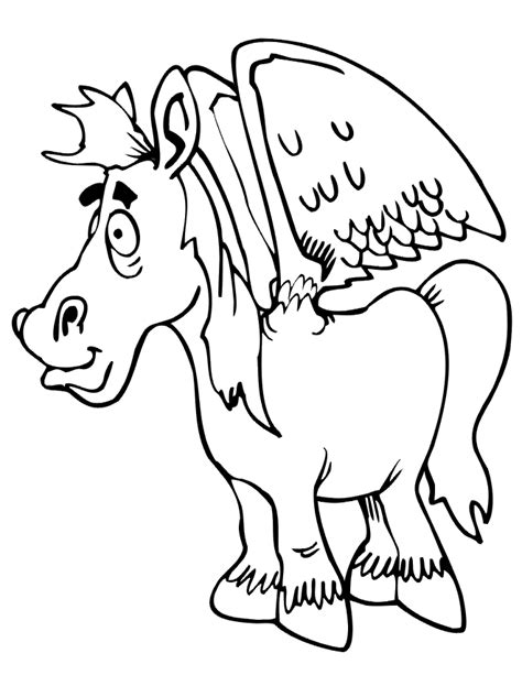 coloring pages of horses with wings coloring page winged