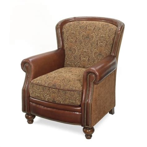 hooker leather sofa seven seas club chair in brindisi leather and fabric cc753