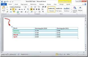 how to convert word 2010 tables to text