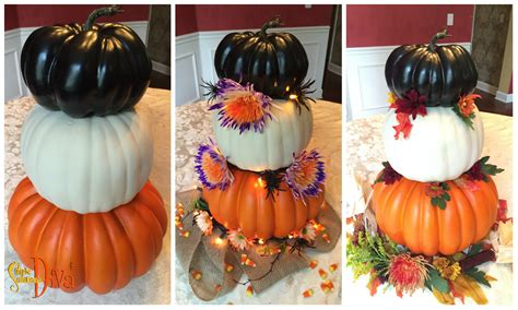 Pumpkin Tower Decoration by Simple Decor Simplesolutionsdiva