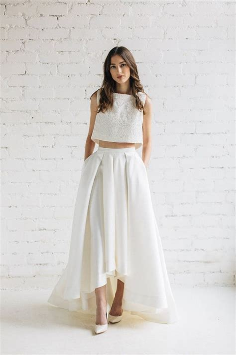 High Low Wedding Skirt, Bridal Separates, Ivory Wedding