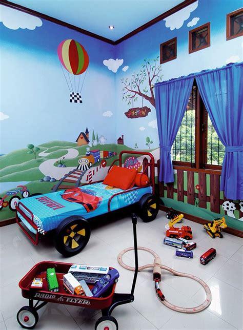 wallpaper dinding kamar tidur anak laki perempuan