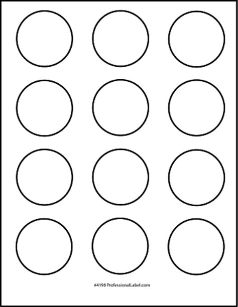 8 best images of 2 5 inch circle template printable 2