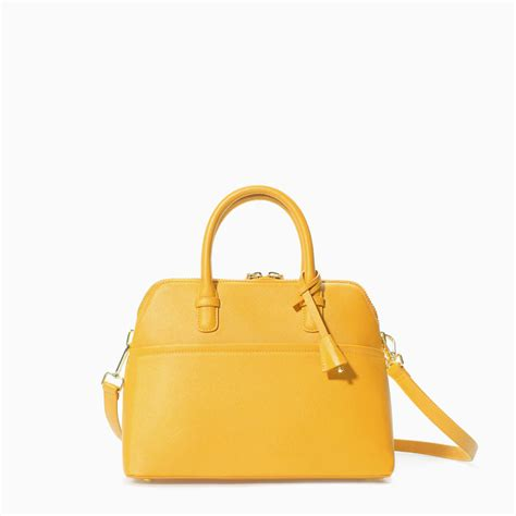Tas Zara City Mini zara mini city bag in yellow lyst