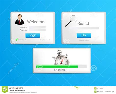 Login Search Tablet Search Loading And Login Windows Stock Photography Image 37537682