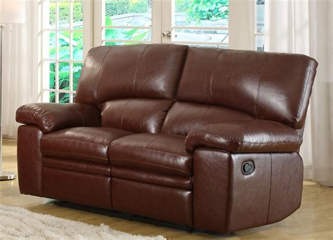 double seat recliner homelegance kendrick double recliner love seat brown
