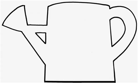 Watering Can Illustration Clipart Wikiclipart Watering Can Coloring Page