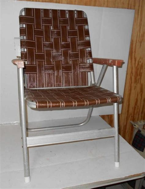 Webbed Aluminum Folding Chairs by Vintage Lawn Deck Cing Chair Web Aluminum Folding