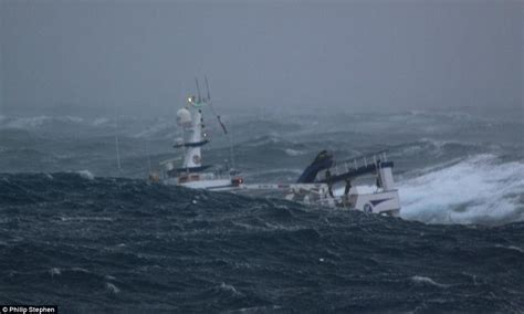 fishing boat jobs in scotland north sea trawlermen fishing boat battered by waves as