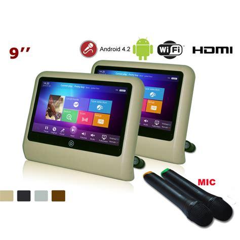 android monitor hd 1080p android in car karaoke tv ktv entertainment system sd usb headrest monitor av 9 jpg