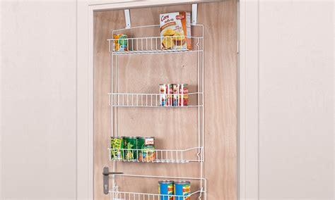 over the door storage rack with baskets 5 over door basket storage rack groupon goods