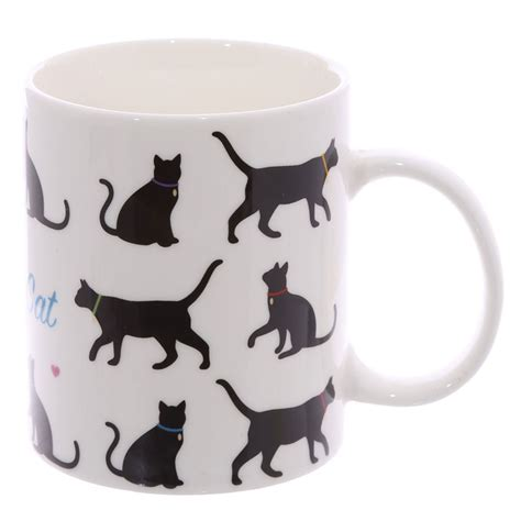 Cat Mug 1 i my cat mug 9 2cm high black cat cup bone china