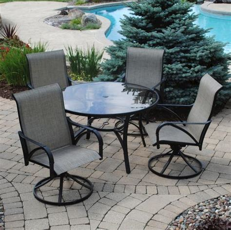 Backyard Creations Patio Furniture backyard creations 5 augustine dining collection at