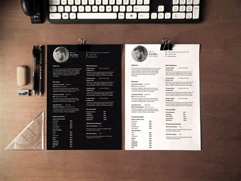 20 Beautiful Free Resume Templates For Designers Bourne Identity Style Free After Effects Template