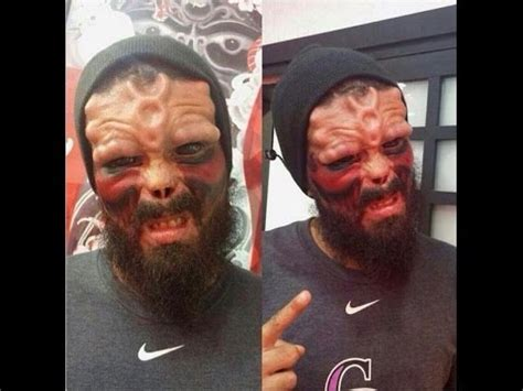 extreme tattoo transformation extreme facial transformation red skull marvel comics