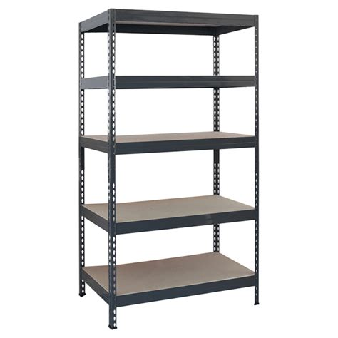 Etagere Stangen Stabil by 5 Tier Shelving Unit 14 X 34 X 70 Quot Grey Metal Rona