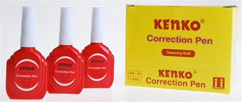 Correction Pen Kenko Ke 01 Tipex kenko corection pen ke 01 1 doz toko grosir alat tulis kantor toko atk murah