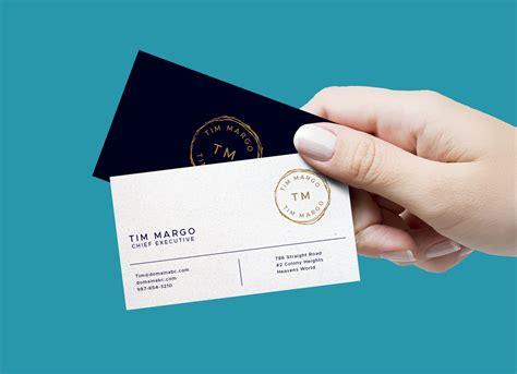 Holding Business Card Mockup