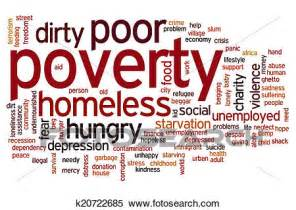 Wall Mural Pricing stock illustration of poverty word cloud k20722685